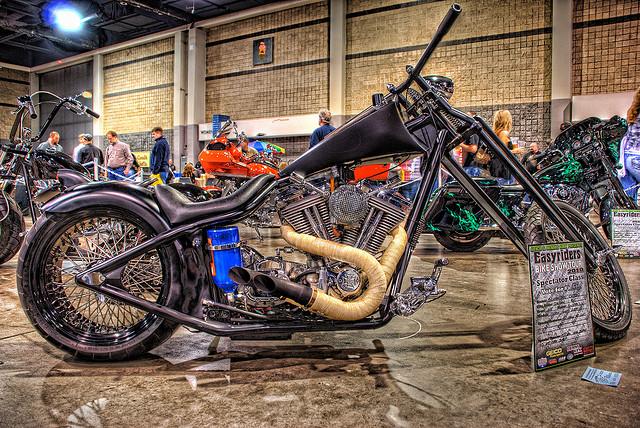 Black Custom Chopper