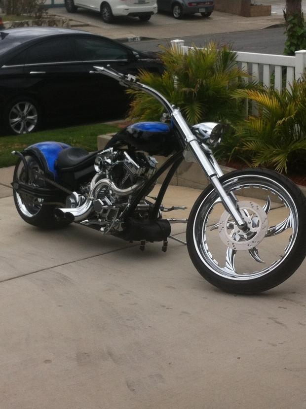 Blue and Chrome Chopper!