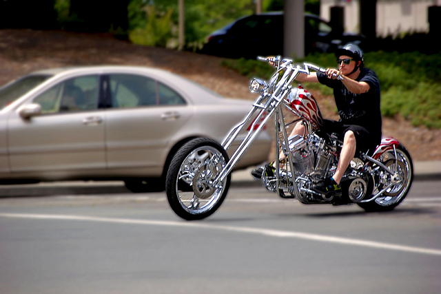 Custom Chopper Cruising