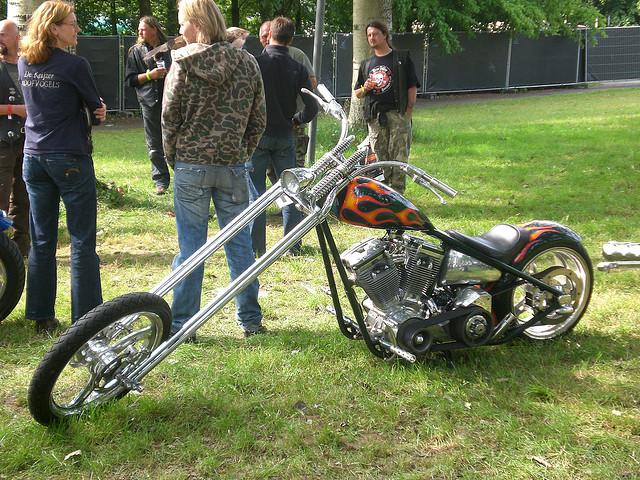 Harley Davidson on Grass
