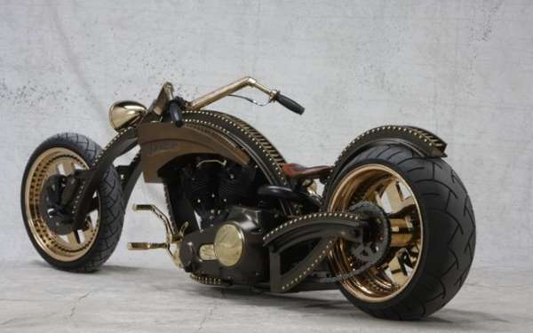 Gold And Black Barro Customized Chopper Totally Rad Choppers