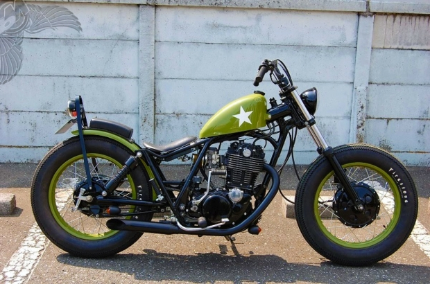 custom yamaha metric bobber motorcycle totally rad choppers. Black Bedroom Furniture Sets. Home Design Ideas