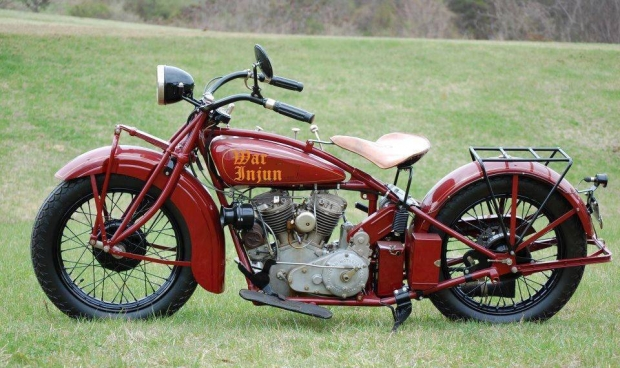 Old Classic War Injun Motorcycle