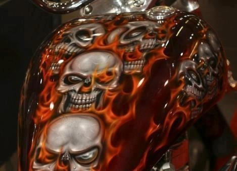 Gnarly Gas Tank Paint