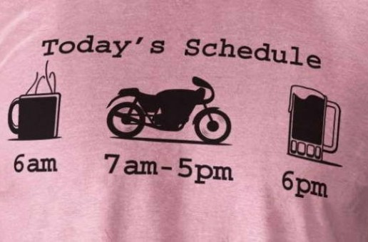 Today's Schedule | Riding Motorcycles