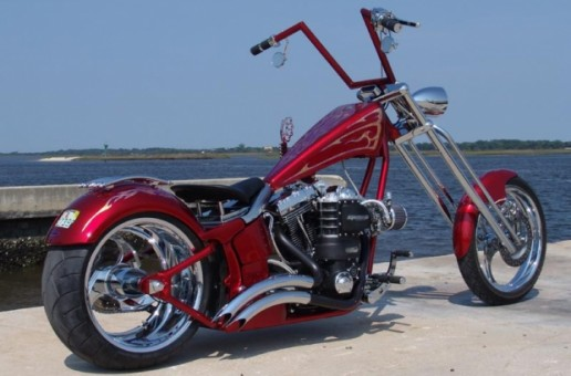 Metal Perfection on this Chopper   Motorcycle