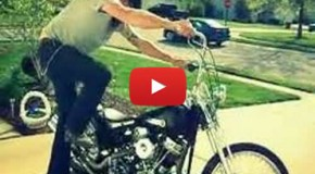 Old School Panhead Chopper – Neighbors Hate Him