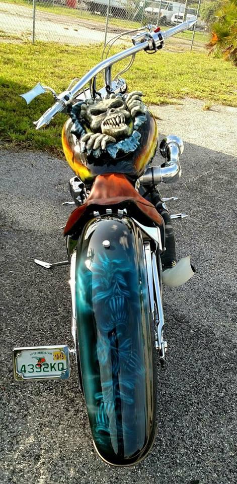 Voodoo Child Custom Built Chopper Motorcycle