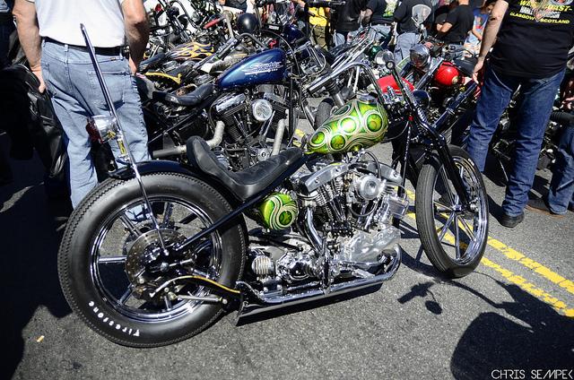 Green and Black Chopper