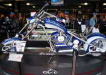 White and Blue Chopper