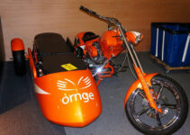 Orange Two Seater Chopper