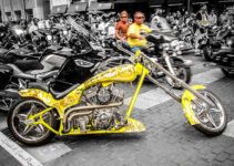 Yellow Skull Chopper