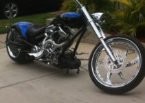 Blue and Chrome Chopper!