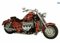 Orange Boss Hoss V8 Chopper