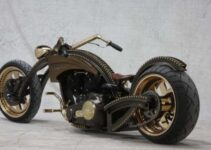 Gold and Black Barro Customized Chopper