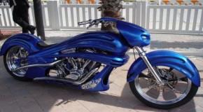 Blue Phantom Harley Chopper