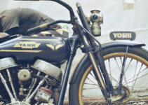 Vintage Chopper Motorcycle