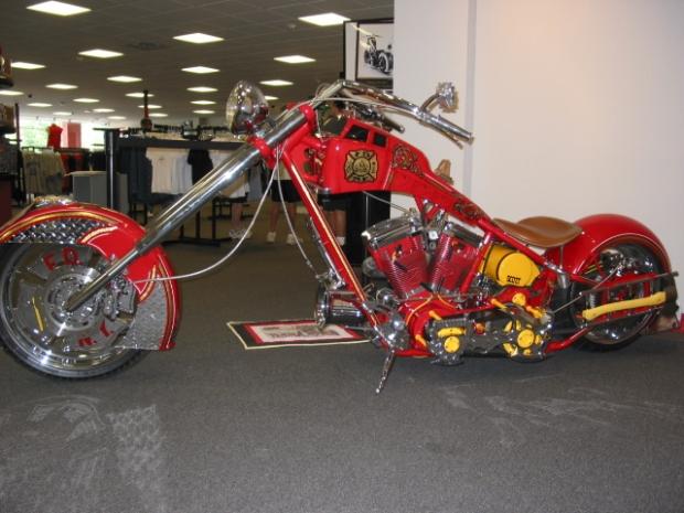 Orange County Choppers Fire Bike