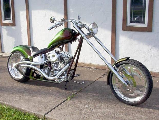 Green and Lean Custom Chopper
