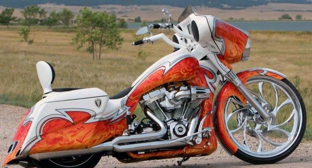 Hot Custom Bagger Chopper Motorcycle