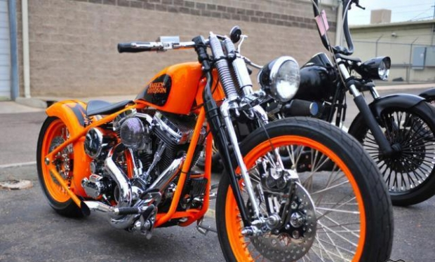 Perfect Pair of Chopper Motorcycles