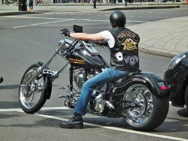 Riding A Harley Davidson Chopper