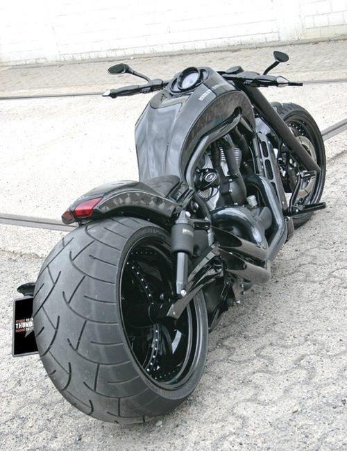 Fat Black Radness Chopper Motorcycle