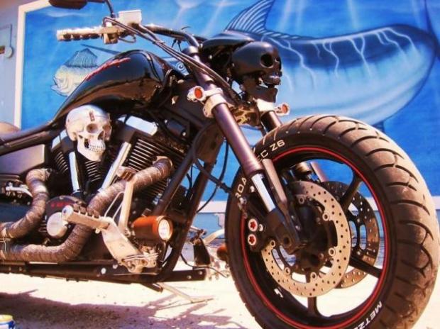 Skull Warrior Chopper Motorcycle