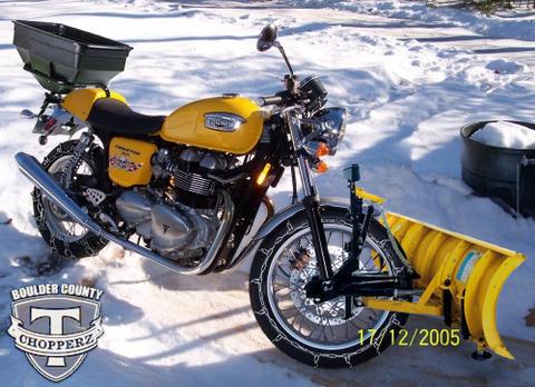 Motorcycle Snow Plow