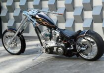 Mike's Black Heart Softail Chopper