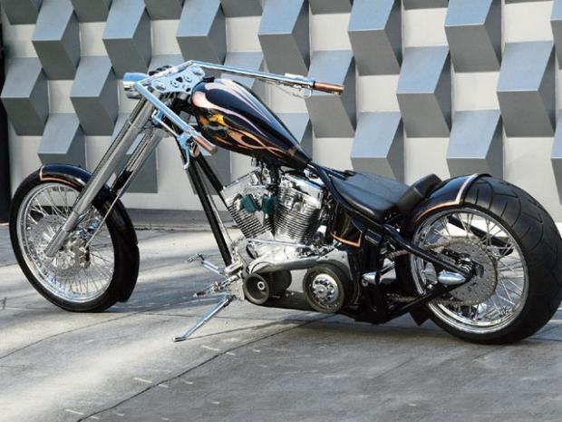 Mike's Black Heart Softail Chopper