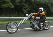 A Long Chopper Motorcycle