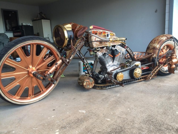 Rich 39 s flame throwing maui rat rod totally rad choppers for Motor city powersports hours