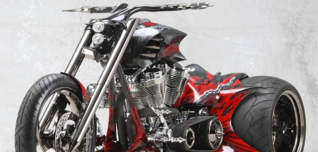 Raging Red Ride Trike Chopper