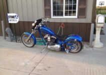 Mike's Bad Blue Custom Chopper