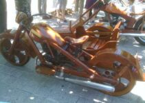 Wood Built Chopper Motorcycle