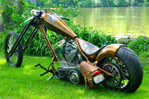 Awesome Custom Built Chopper Motorcycle