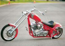 Clean Red Custom Chopper