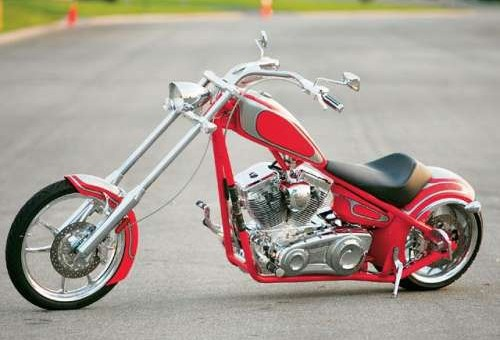 Clean Red Custom Chopper