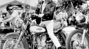 The King on an Electra Glide