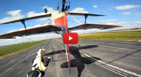Amazing Airplane Tail Grab on a Motorcycle