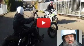 Harley Davidson Chopper vs. Sport Bike Race