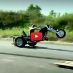 V-8 Trike Popping Wheelies
