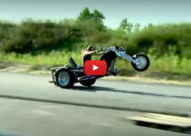 V-8 Trike Popping Wheelies