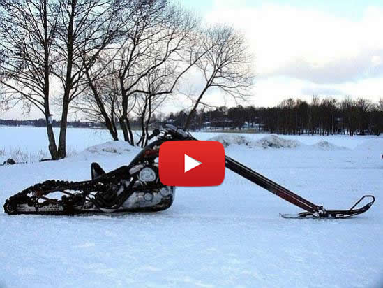 Harley Snowmobile Chopper