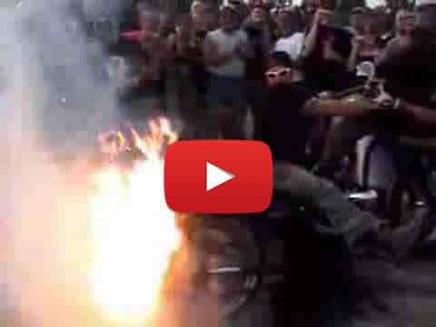 Flaming Chopper Burnout