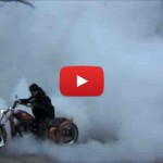 Chopper Burnout Tire Shred Video