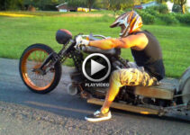Rat Rod Chopper Motorcycle