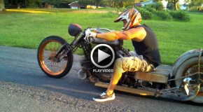 Rat Rod Chopper Motorcycle
